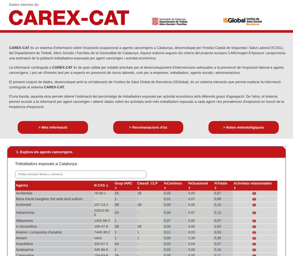 Screenshot of Area interface